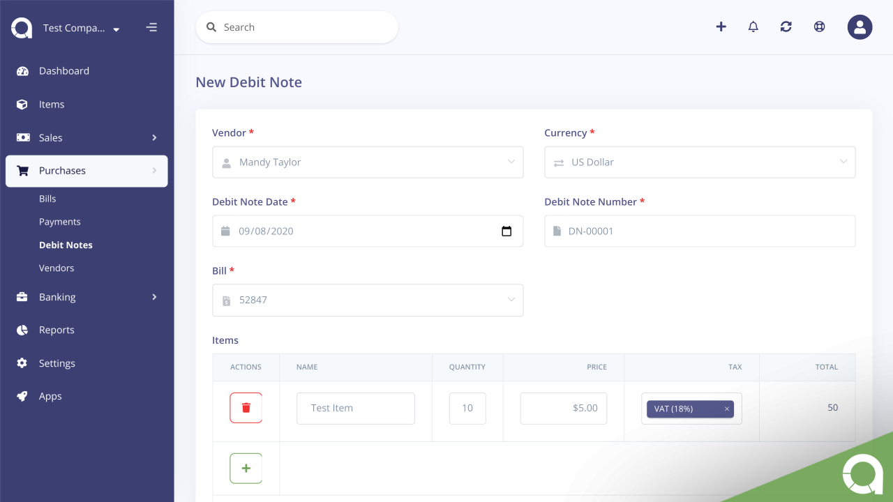Credit/Debit Notes