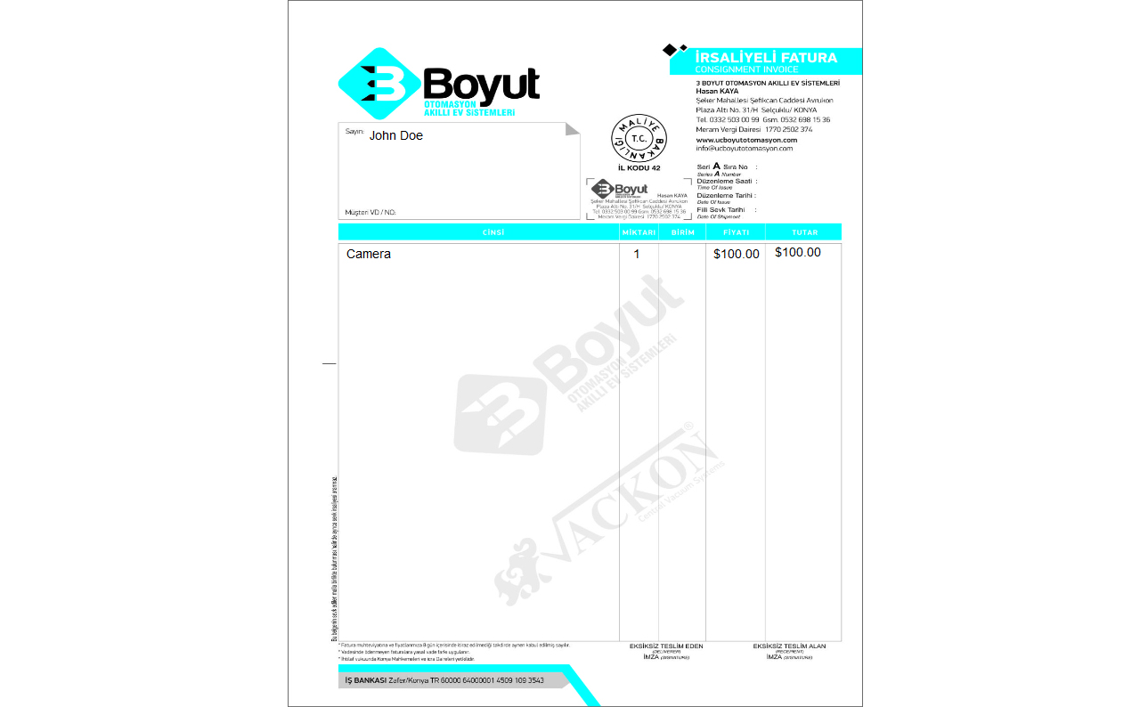 Print (Invoice) Template