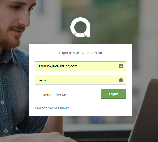 akaunting login