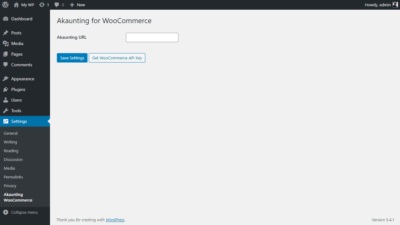wordpress plugin settings 1